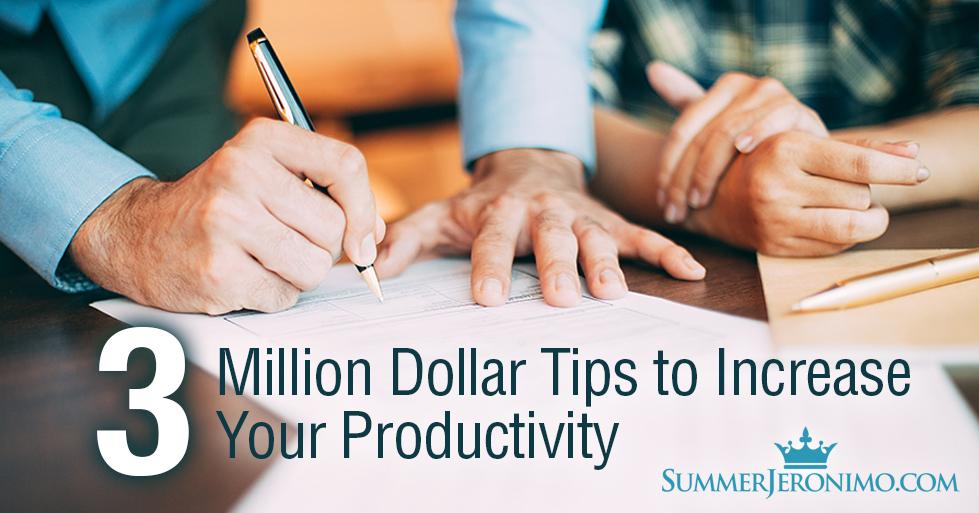 3 Million Dollar Productivity Tips