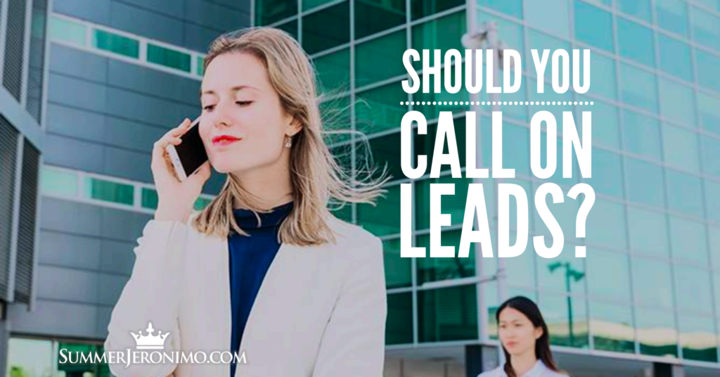 Should You Call on Network Marketing Leads?